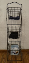 Knock Down 3 Tier Iron Wire Storage Basket
