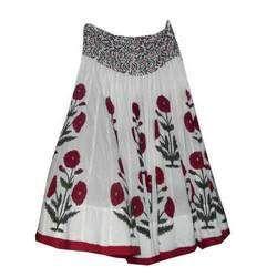 Jaipuri Hand Block Ladies Printed Skirts