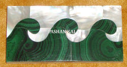 Malachite and Mother Of Pearl Strips Tile