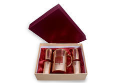Gifting Box_ Pure Copper Jug With Four Glasses
