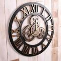 3D Antique Designer Wooden Wall Clock