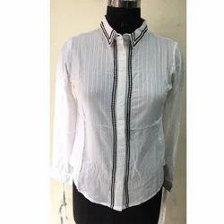 Ladies White Full Sleeves Shirt