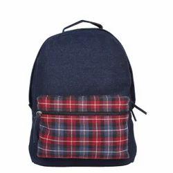 Classic Blue Denim Backpack