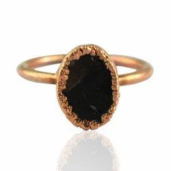 Tourmaline Black Finger Rings