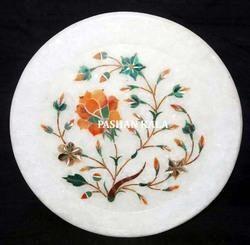 Marble Stone Inlay Handmade Plate