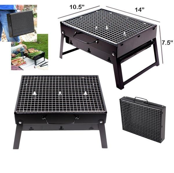 Folding Portable Outdoor Barbeque Charcoal Bbq Grill Oven Black Carbon Steel At Rs 580 Piece Portable Grill Portable Barbecue Grill Portable Barbeque Grill प र ट बल ब ब क य ग र ल स व हय ब ब क य ग र ल