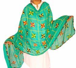 Indian Phulkari Dupatta - Nazneen Dupatta - Traditional Chunni - Gift - Embroidered Punjabi Dupatta