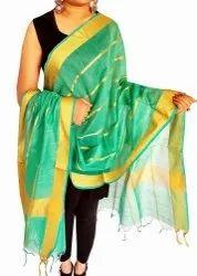 Chanderi Silk Dupatta - Fancy Dupatta - Indian Dupatta - Silk Chunni