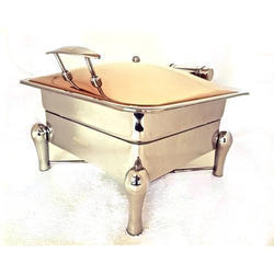 Grand Square Rose Gold 2/3 Chafer with Sleek Cover