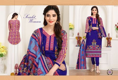 6ba0fde49e Cotton Dress Material - Deepvin Zara Karachi Vol 3 Salwar Suits ...