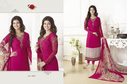 Embroidered Full Sleeve Suhati Salwar Suit Fabric