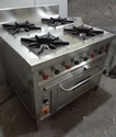 Stainless Steel Four Burner Gas Range with oven