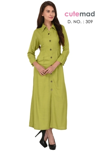 b24576e522f5c Kurtis - Women s Cotton Front Button Kurti Wholesaler from Surat