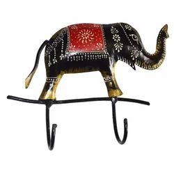 Iron Emboss Elephant Key Hanger