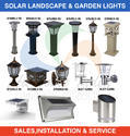 Solar Outdoor Garden/ Wall/ Pillar Lights