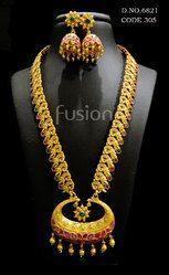 Traditional Matt Long Necklace Set