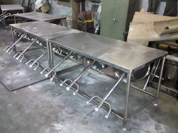 Four Seater SS Canteen Table