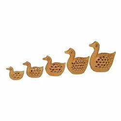 Wooden Undercut Work Duck Set