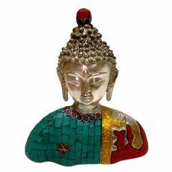 Brass Buddha Bust