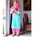 Punjabi Welcome Lady Statue