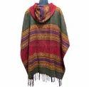 Hippie Winter Coat Hooded Poncho Acrylic Wool Dress