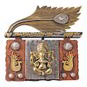Brass look Lord Ganesha  Wall Hanging Statue Decorative Gift
