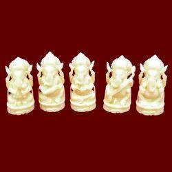 Resin Plain Musical Ganesha Statue set