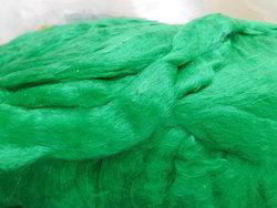 Sari Silk Sliver In Green Color Suitable For Fiber Stores