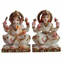 Marble Ganesha Laxmi Statue