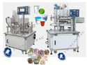 Rotary Type Cup Filling & Sealing Machine -juices,water,curd