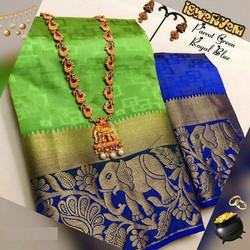 Kanjivaram Forest King Saree