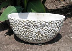Fiberglass Bowl Planter