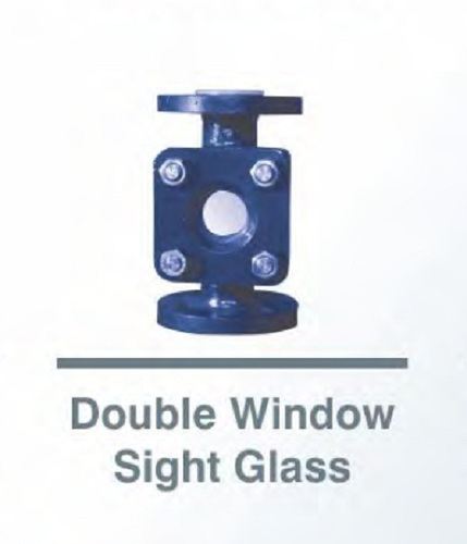 P.F.A Lined Double Window Sight Glass