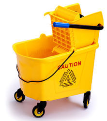 Mop Wringer Trolley With Pushing Handle