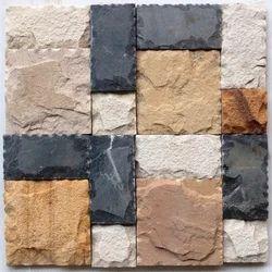 Mix Colour Sandstone Wall Cladding Mosaic Tiles