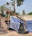 Basketball Pole Movable Gold - Black
