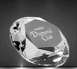 Crystal Diamond Paper Weight