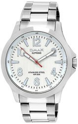 Omax Analog Silver Dial Watch