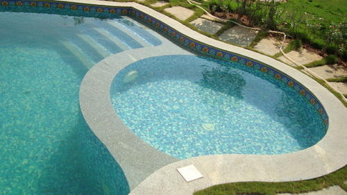 Swimming Pool Glass Mosaic Tiles Manufacturer From Ahmedabad