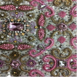 Embroidery Sequins With Resham Work