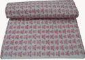 Hand Block Print 100% Cotton Fabric Sanganeri Butterfly Print