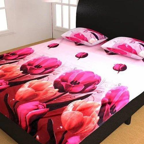 Designer 3D Floral Printed Bed Sheet Set