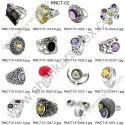Handmade 925 Sterling Silver Diamond Inlay Emerald Ring