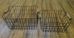 Iron Wire Baskets Set Of 2