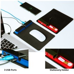 Trapp - Mouse Pad with USB Hub & Stationery Holder