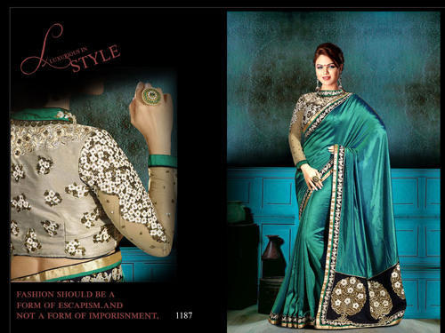 Heavy Designer Embroidery Sarees