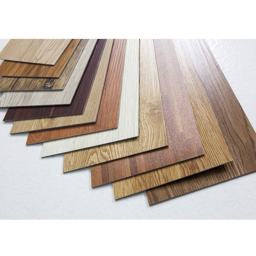Polyvinyl flooring tiles