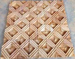 Teak sandstone Mosaic tiles for wall cladding