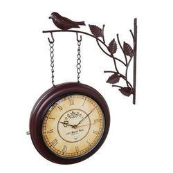 Double Side Hanging Clock