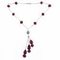 Splendid Ruby 925 Sterling Silver Bezel Necklace
